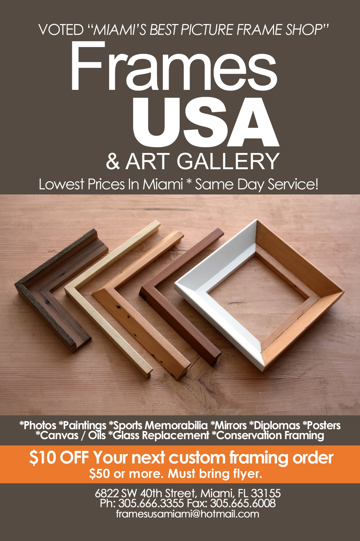 Picture Framing Coupon! | Frames usa & Art Gallery