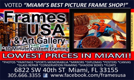 Great Frame shop in Miami