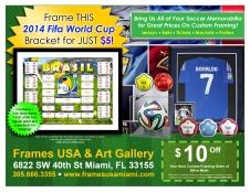 Frame your Bracket for $5
