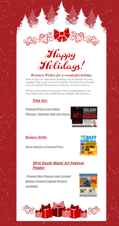 Holidays 2014 Newsletter