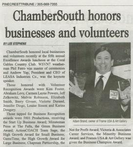 Chamber South Award