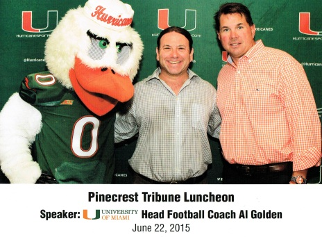UM Coach and Mascot with Adam
