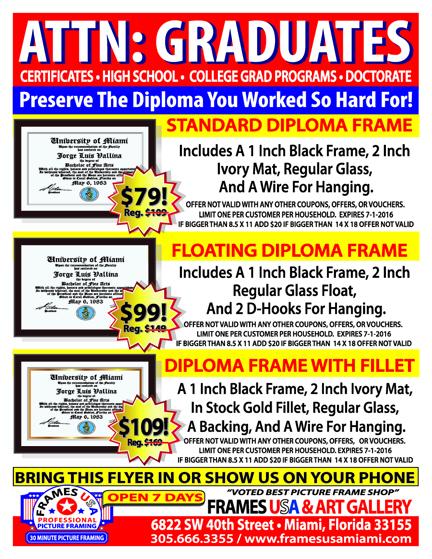FRAME YOUR DIPLOMA ATTN GRADUATES - FINAL 72 DPI