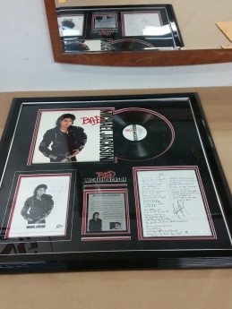 Framed Michael Jackson Memorabilia