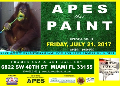 Apes that Paint postard front